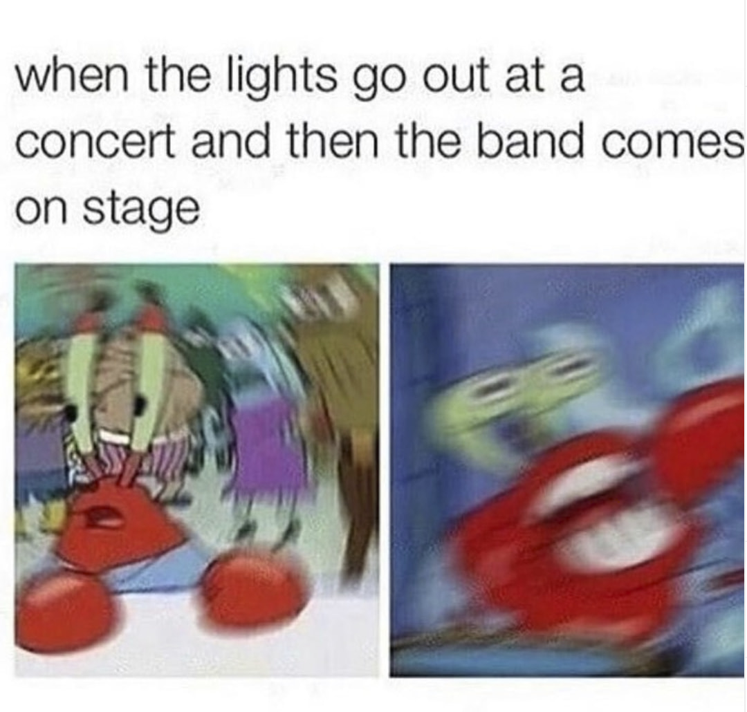 These Concert Memes Will Bring You Back To When Concerts Were A Thing - In The Flesh | Memes