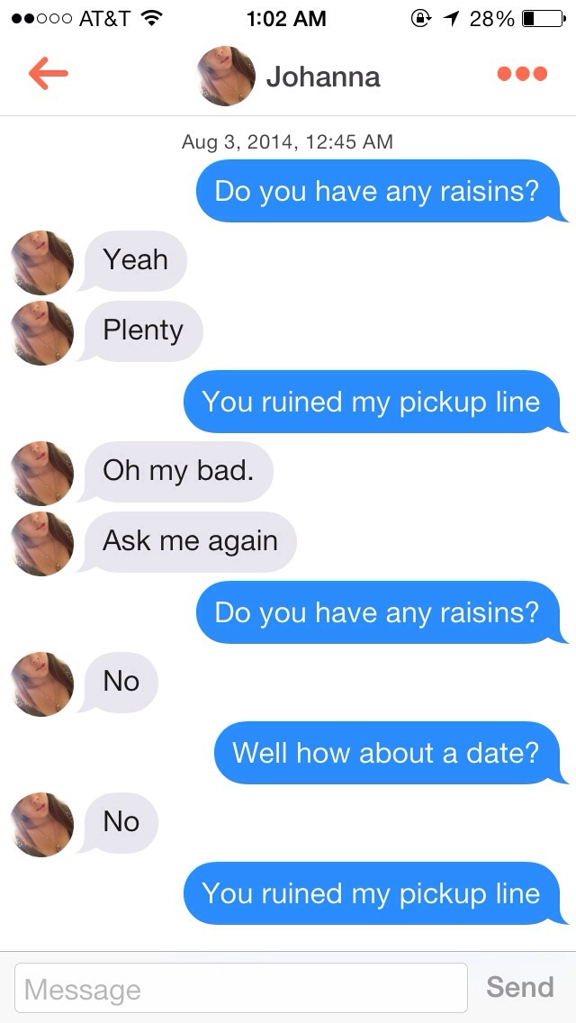 15 Tinder Pick-Up Line Fails - Such Chemistry! | Guff