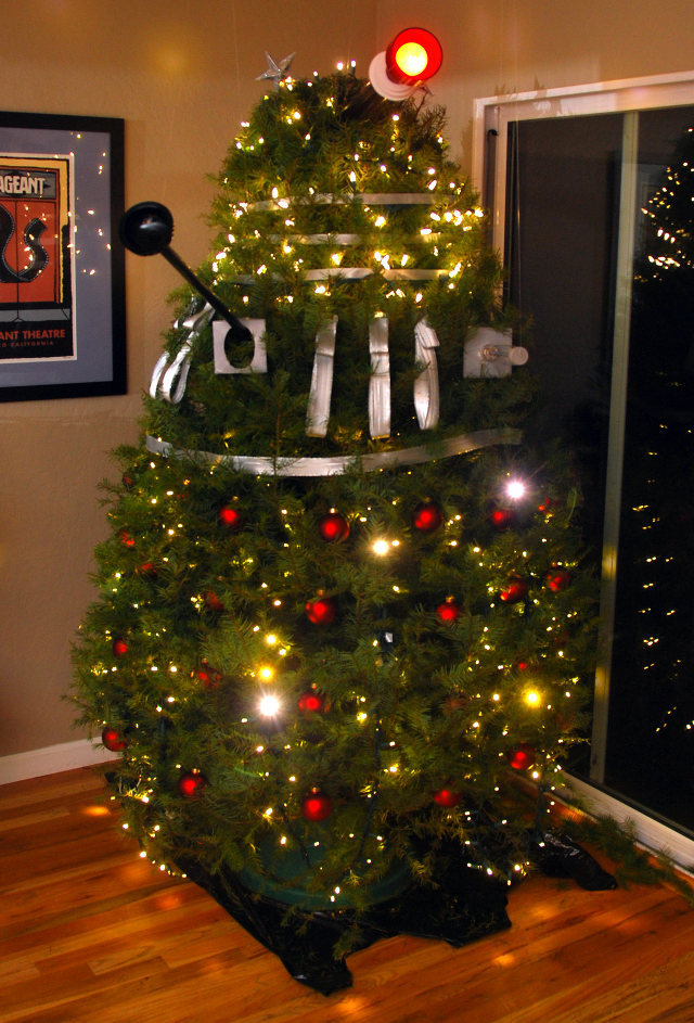 Geek Christmas.Nerdtastic Christmas Trees For The Geek In All Of Us Red