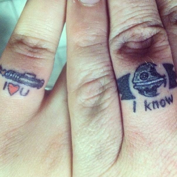 c1295159f 20 Adorable Wedding Ring Tattoos - Our Love Will Endor | Guff