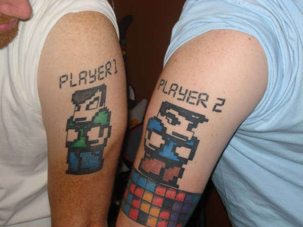 Keep It Retro With These Awesome 8 Bit Tattoos Brothers In