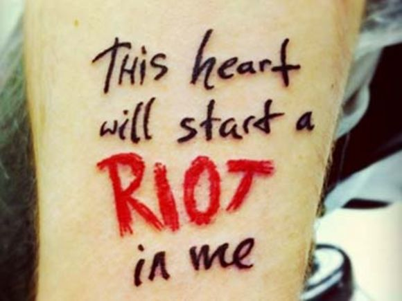 Sing Along With These 15 Song Lyric Tattoos - From Billy