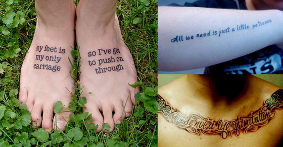 Sing Along With These 15 Song Lyric Tattoos From Billy Joel S