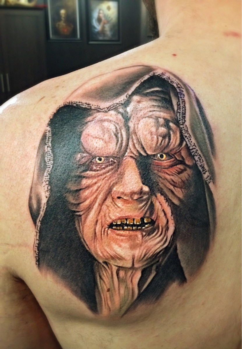 3dd6e430e The Force Is Strong With These Star Wars Tattoos - Emperor Palpatine ...