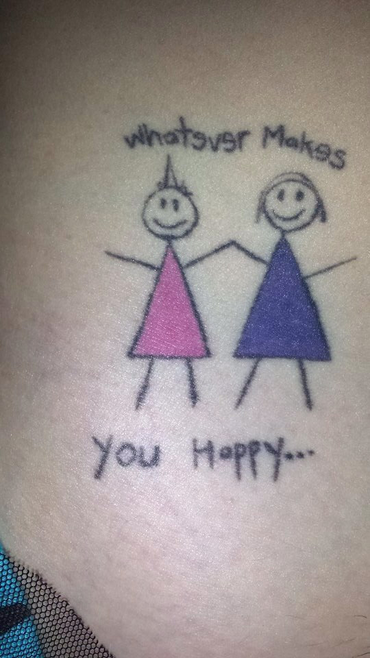 Stick Figure Tattoos That Are Awesome In Their Stickness