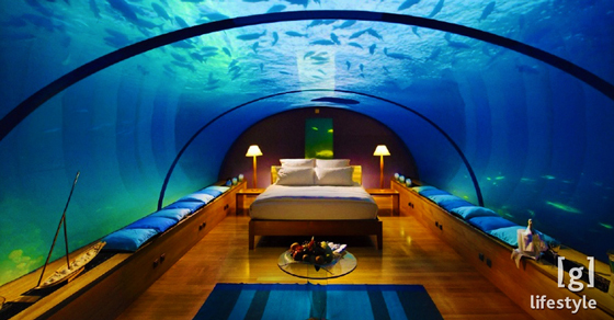 Airbnb For Cars >> Extravagant Home Aquariums That Put Your Tiny Fishbowl to Shame - The Ultimate Bubble Bath | Guff