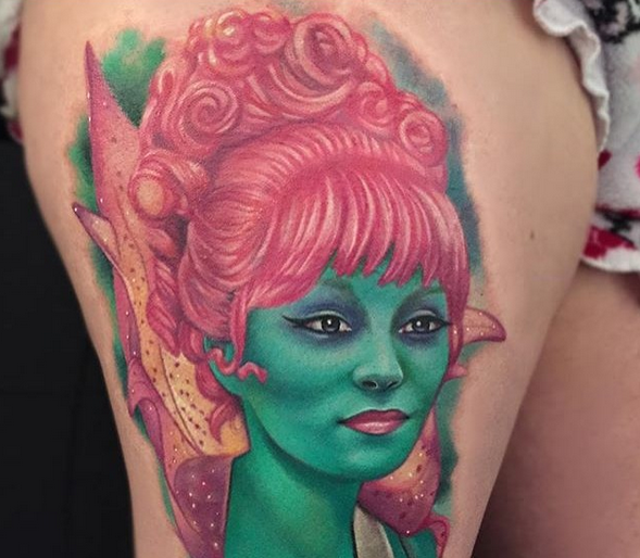 Inkredible Tattoos From Your Favorite Tim Burton Movies Miss Argentina From Beetlejuice Guff