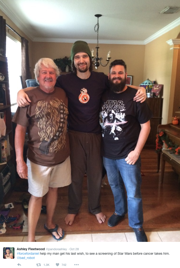 Terminally Ill 'Star Wars' Fan Granted His Final Wish - To See the