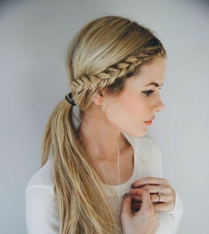 15 Hairstyles That Are Perfect For Going Back To School Simple Side Braid Guff