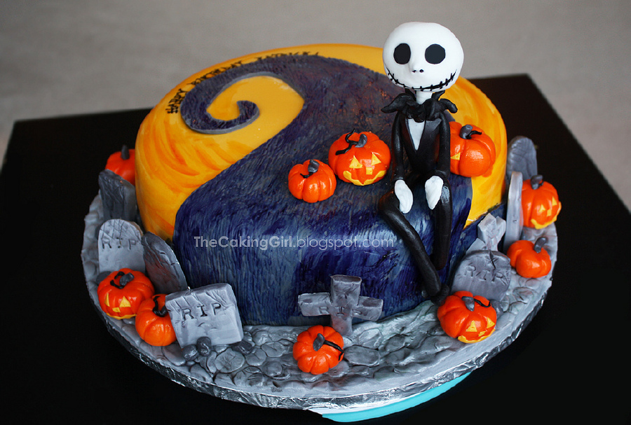 Superb Ghoulishly Great Nightmare Before Christmas Cakes Haunted Personalised Birthday Cards Paralily Jamesorg