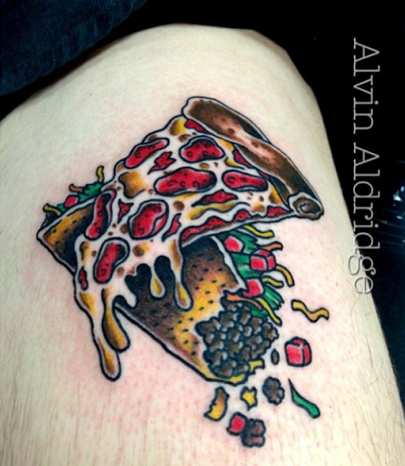 these awesome pizza tattoos make us hungry praying pizza hands memes. Black Bedroom Furniture Sets. Home Design Ideas