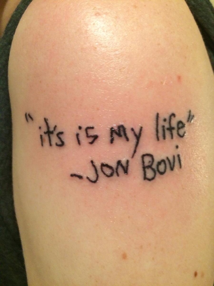 Цитата к фото с татуировкой