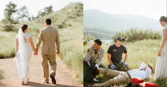 This Man Was Celebrating The Happiest Day Of His Life When A Rattlesnake Crashed The Party - The Happy Couple