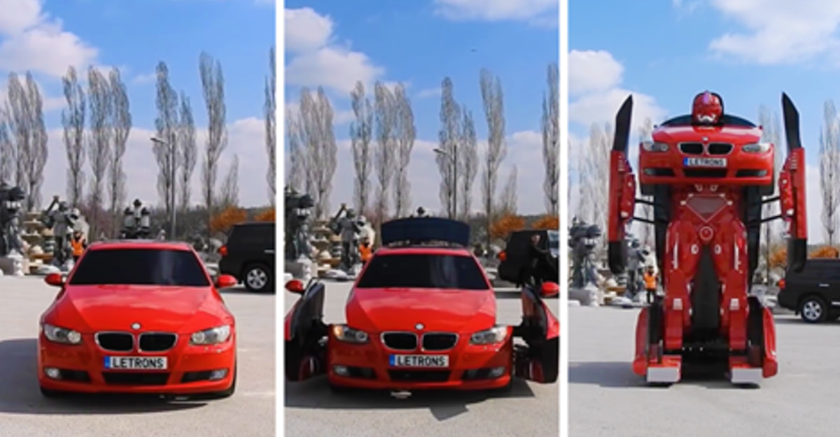 Engineers Created A Real-Life BMW Transformer And It's Totally Badass