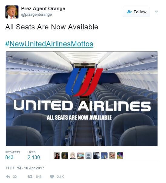 Twitter Has Some Hilarious Suggestions For United Airlines